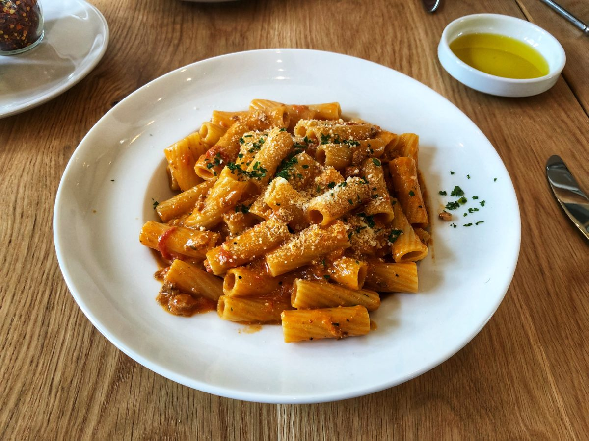 Rigatoni Bolognese from Lucco Cucina and Bar in Florham Park, New Jersey by Foodist @foodisteats