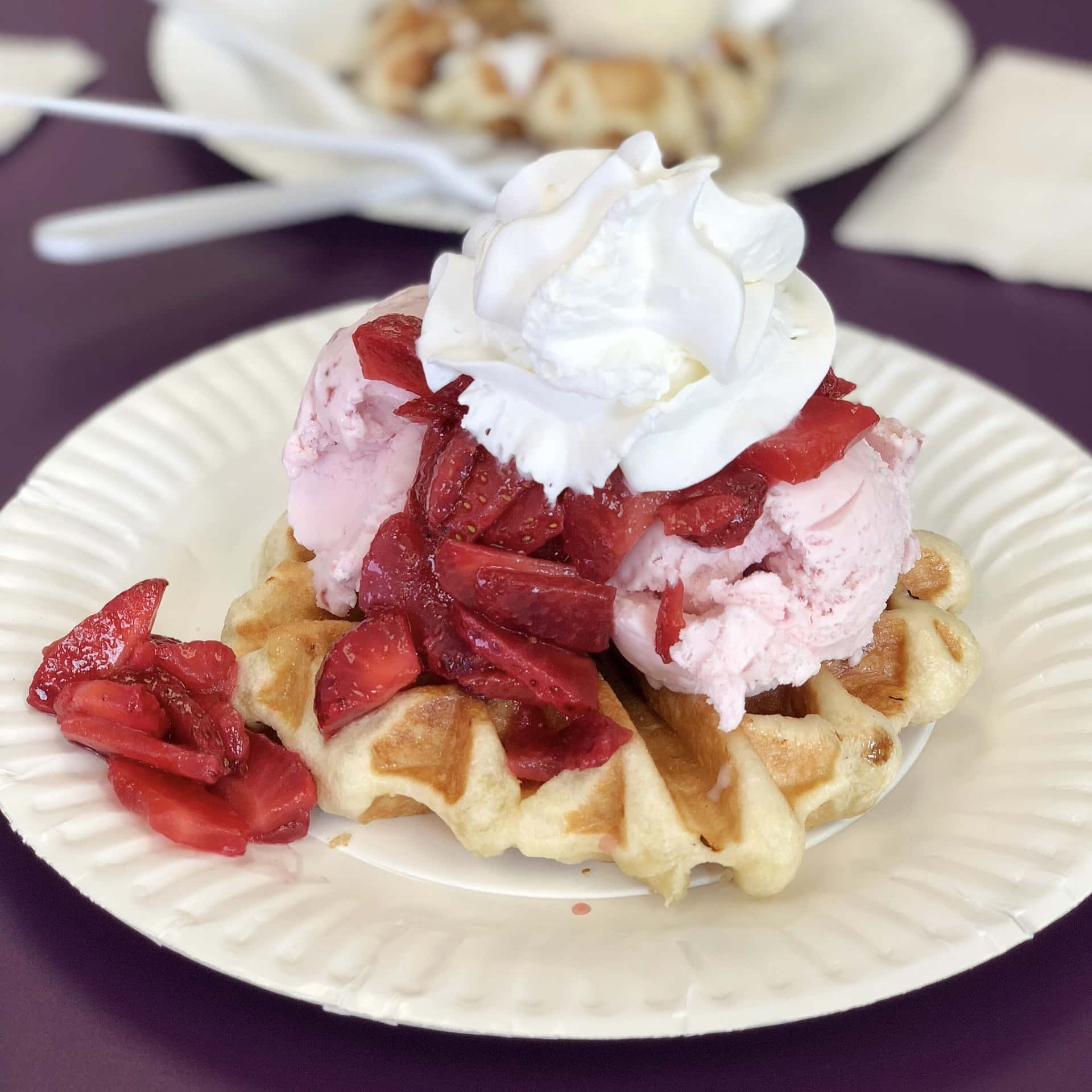 Waffles & Cream Cafe, Parsippany NJ, Serves Savory and Sweet Belgian Waffles