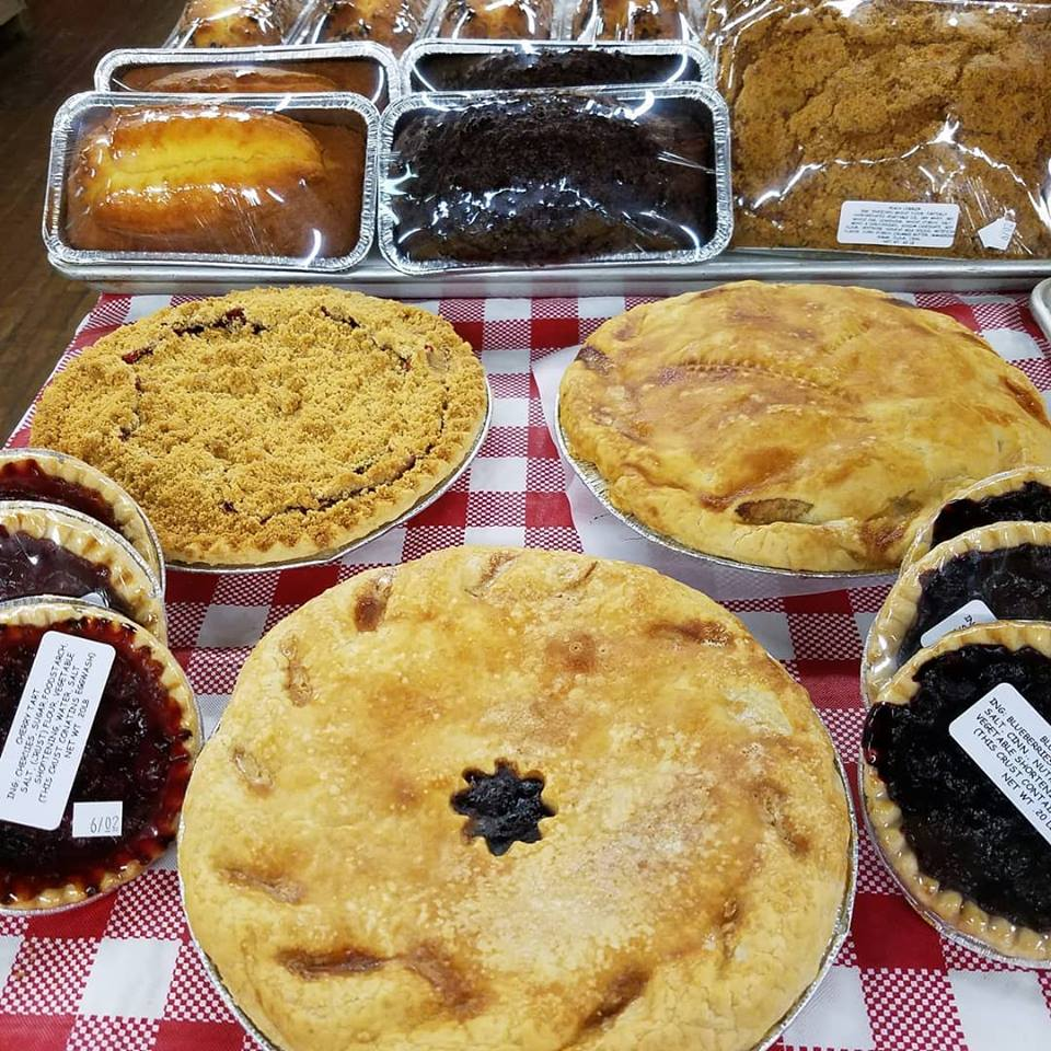 A selection of pies from Wemrock Orchards in Freehold, New Jersey